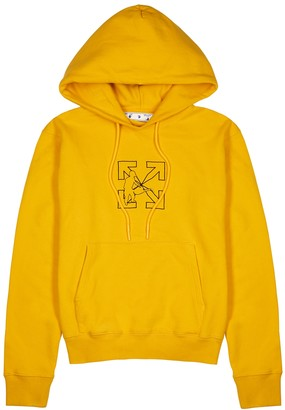 Off-White Logo Workers printed hooded cotton sweatshirt