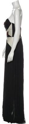 Maria Lucia Hohan Silk Long Dress w/ Tags Black