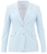 Gabriela Hearst Sophie Single-breasted Cotton-corduroy Jacket - Womens - Light Blue