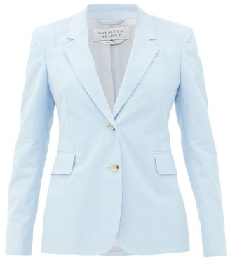 Gabriela Hearst Sophie Single-breasted Cotton-corduroy Jacket - Light Blue