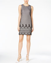 Jessica Simpson Two-Tone Lace-Print Shift Dress