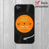 Crank Personalised iPhone Case Vinyl Turntable
