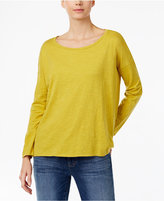 Eileen Fisher Organic Cotton Drop-Shoulder Top