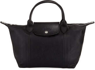 Longchamp Large Leather Top Handle Bag