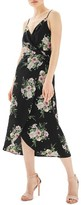 Topshop Women's Floral Wrap Slipdress