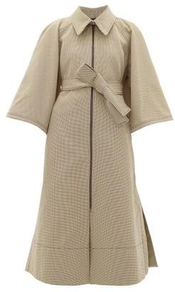 Ssōne Ssone - Resistance Cape-back Jacquard Coat - Beige