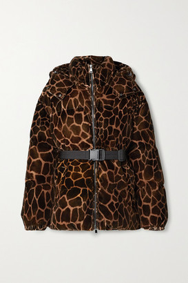 Moncler Kundogi Animal-print Quilted Cotton-velvet Down Jacket - Brown