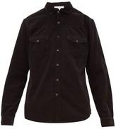 Frame Double-pocket Cotton-corduroy Shirt - Mens - Black