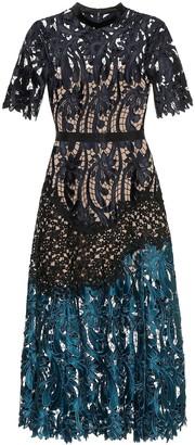 Self-Portrait Prairie guipure lace midi dress