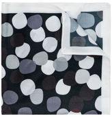 Jeff Banks NEW Abstract Spot Pocket Squares Black