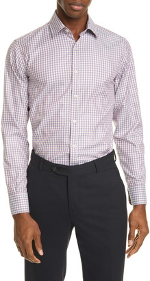 Canali Classic Fit Check Button-Up Shirt