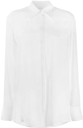 Victoria Victoria Beckham Logo Jacquard Shirt