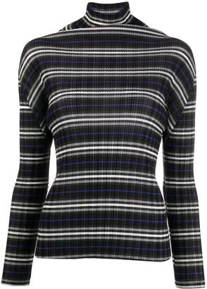 Pleats Please Issey Miyake micro-pleated roll neck sweater
