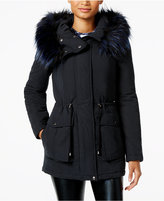 Rachel Roy Faux-Fur-Trim Hooded Anorak, Only at Macy's