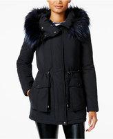 Rachel Roy Faux-Fur-Trim Hooded Anorak, Only at Macy's