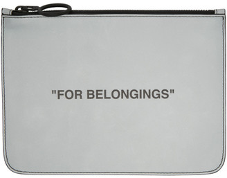 Off-White Off White Grey Quote Pouch