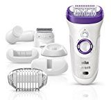 Braun Silk-épil 9 9-579 Wet and Dry Cordless Electric Hair Removal Epilator, Ladies' Electric Razor for Women – BONUS EDITION