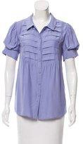 Cynthia Steffe Silk Short Sleeve Blouse w/ Tags