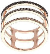Ef Collection Fade to Black triple spiral ring