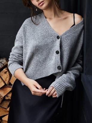 Mint Velvet 2-in-1 Cardigan Dress, Grey