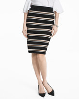 White House Black Market Stripe Sweater Pencil Skirt