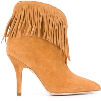 Paris Texas Fringed Pointed Boots