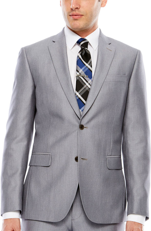 Jf J.Ferrar Pin Dot Slim Fit Suit Jacket-Slim