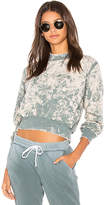 Cotton Citizen The Milan Crop Sweatshirt in Slate. - size L (also in M,S,XS)