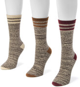 Muk Luks Women's 3-pk. Marled Stripe Boot Crew Socks