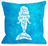 But I Am A Mermaid Blue Ocean Decorative Pillow by OBC