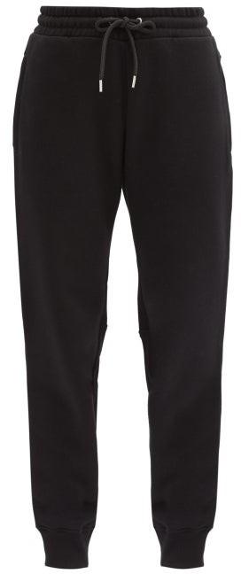 Paco Rabanne Logo-print Cotton-jersey Track Pants - Black