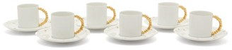 L'OBJET L'Objet Lobjet - X Haas Brothers 24kt-gilded Espresso Set - White Gold