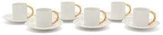 L'OBJET Lobjet - X Haas Brothers 24kt-gilded Espresso Set - White Gold
