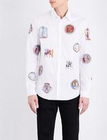 Versace Regular-fit sketch-print cotton shirt