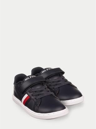 Tommy Hilfiger TH Kids Black Stripe Sneaker