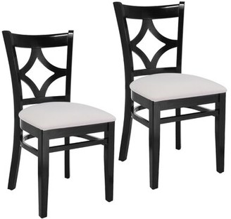 Mignone Bloomsbury Market Solid Wood Side Chair Bloomsbury Market Frame Color: Black / White