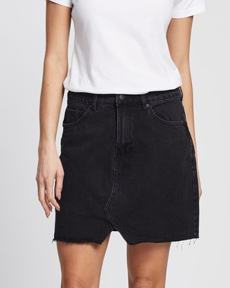 All About Eve Women's Black Denim skirts - Shea Split Denim Skirt - Size One Size, 6 at The Iconic