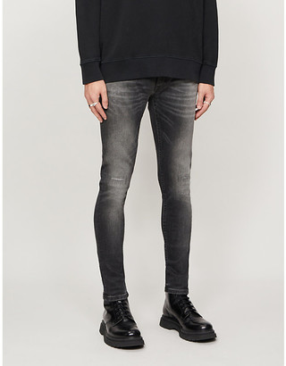 Nudie Jeans Skinny Lin faded straight jeans