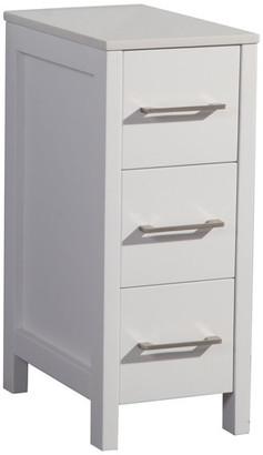 "Vanity Art Vanity Cabinet, White, 12"""