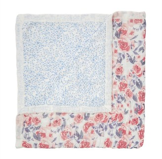 Aden Anais aden + anais White Label Silky Soft Blanket Watercolour Garden