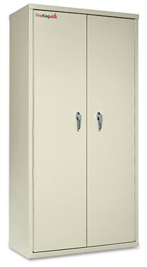 "72"" H x 36"" W x 19.25"" D 2 Door Storage Cabinet FireKing"
