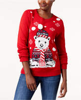 Karen Scott Polar Bear Holiday Sweater, Created for Macy's