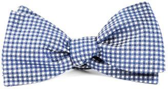 Tie Bar Bahama Checks Classic Blue Bow Tie