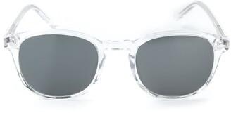 Lesca transparent frame sunglasses