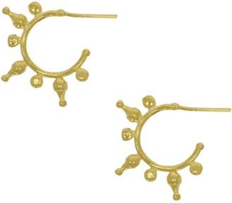 Ottoman Hands Jale Antique Gold Hoop Earrings