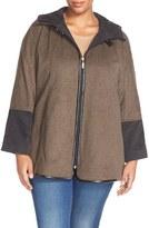Ellen Tracy Plus Size Women's Hooded Double Face Swing Coat