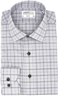 Lorenzo Uomo Plaid Check Trim Fit Dress Shirt