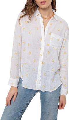 Rails Charli Banana-Print Button-Down Shirt