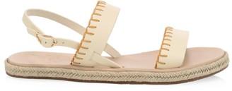 Ancient Greek Sandals Clara Whipstitch Leather Espadrille Slingback Sandals