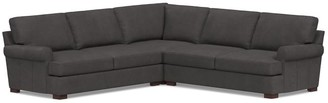 Pottery Barn Townsend Roll Arm Leather 3-Piece L-Shaped Corner Sectional